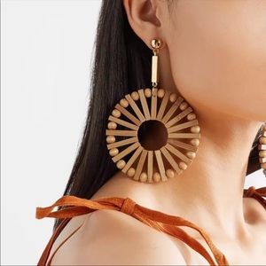 Anthropologie Jewelry - Anthro Windmill Bamboo Earrings